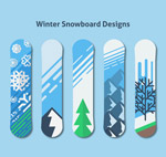 冬季图案单板滑雪板