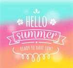 手绘你好夏季艺术字