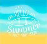 冲浪板夏季艺术字