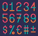 拼色数字和符号
