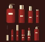 红色化妆品矢量