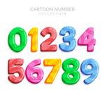 10款彩色卡通数字
