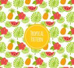 龟背竹和水果背景