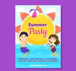 夏季派对人物传单