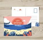 夏季沙滩明信片