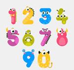 10款可爱怪兽数字