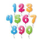10款彩色气球数字