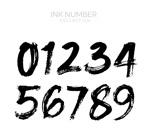 黑色毛笔绘数字