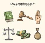 手绘法律元素
