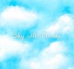 蓝天白淡云风景