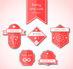 红色爱的徽章