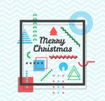 抽象图案圣诞节贺卡