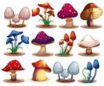 12款卡通蘑菇