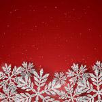 白色雪花红底背景