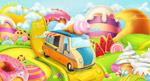 糖果世界和甜品车