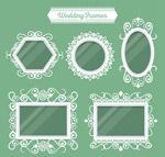 白色花纹婚礼镜框