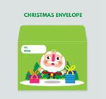 圣诞老人信封矢量