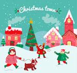 圣诞小城和人物