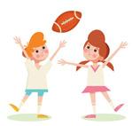 玩美式足球的孩子