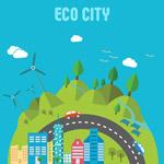 绿色生态城市插画