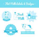 牛奶标签和徽章