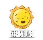太阳保持微笑插画