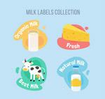牛奶标签设计