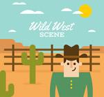 西部牛仔插画