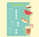 夏季儿童菜单