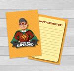 超人父亲祝福卡