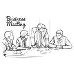 手绘商务会议人物