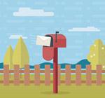 花园里的红信箱