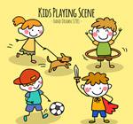 可爱玩耍儿童