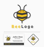 可爱蜜蜂标志