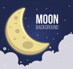 卡通云上的月亮