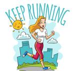 跑步健身女子