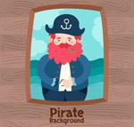 卡通海盗船船长