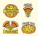 卡通披萨标志