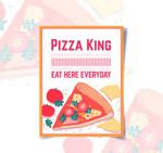三角披萨宣传单