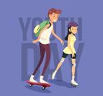 青年节男孩和女孩