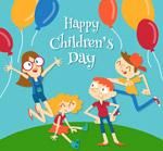 儿童节孩子和气球