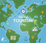世界旅游日地图