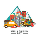 世界旅游日度假元素