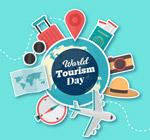旅游日地球贴纸