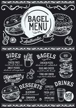 百吉饼黑板菜单