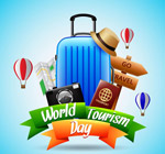 世界旅游日行李箱