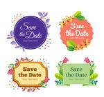 花草装饰婚礼标签