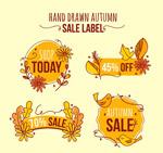 秋季销售标签