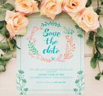 玫瑰花装饰婚礼海报