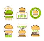 绿色汉堡包店标志